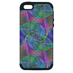 Spiral Pattern Swirl Pattern Apple Iphone 5 Hardshell Case (pc+silicone)