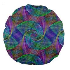 Spiral Pattern Swirl Pattern Large 18  Premium Round Cushions