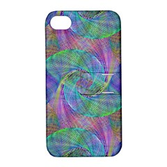 Spiral Pattern Swirl Pattern Apple Iphone 4/4s Hardshell Case With Stand
