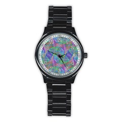 Spiral Pattern Swirl Pattern Stainless Steel Round Watch