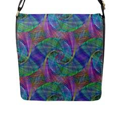 Spiral Pattern Swirl Pattern Flap Messenger Bag (l)