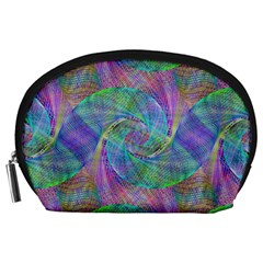 Spiral Pattern Swirl Pattern Accessory Pouches (large)