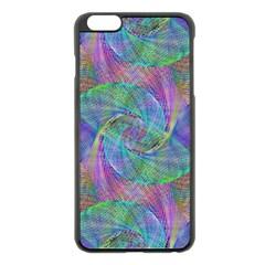 Spiral Pattern Swirl Pattern Apple Iphone 6 Plus/6s Plus Black Enamel Case