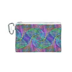 Spiral Pattern Swirl Pattern Canvas Cosmetic Bag (s)