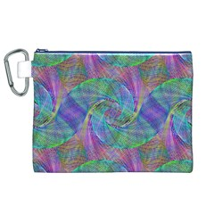 Spiral Pattern Swirl Pattern Canvas Cosmetic Bag (xl)