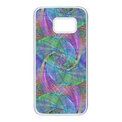 Spiral Pattern Swirl Pattern Samsung Galaxy S7 White Seamless Case