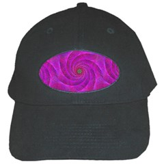 Pink Abstract Background Curl Black Cap