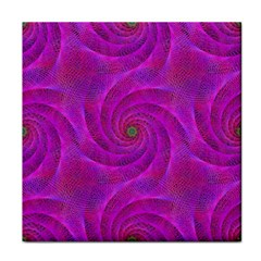 Pink Abstract Background Curl Tile Coasters