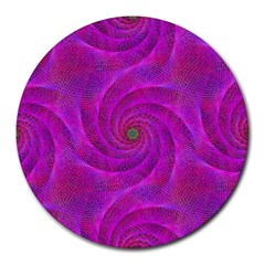 Pink Abstract Background Curl Round Mousepads