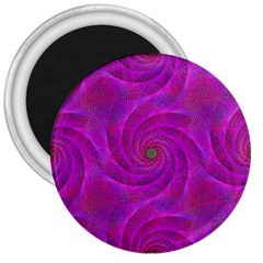 Pink Abstract Background Curl 3  Magnets