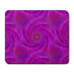 Pink Abstract Background Curl Large Mousepads