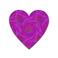 Pink Abstract Background Curl Heart Magnet