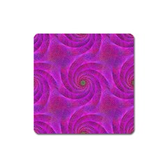Pink Abstract Background Curl Square Magnet