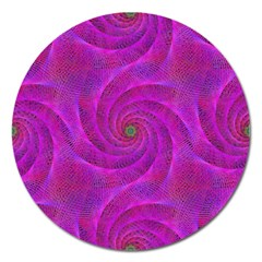 Pink Abstract Background Curl Magnet 5  (round)