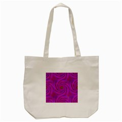 Pink Abstract Background Curl Tote Bag (cream)