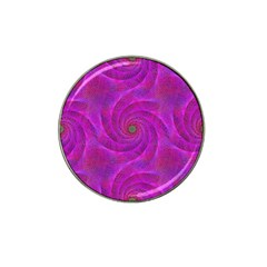 Pink Abstract Background Curl Hat Clip Ball Marker (4 Pack)