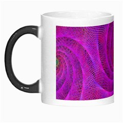Pink Abstract Background Curl Morph Mugs