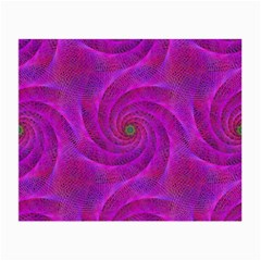Pink Abstract Background Curl Small Glasses Cloth