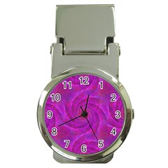 Pink Abstract Background Curl Money Clip Watches