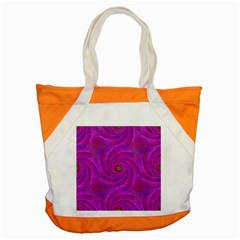Pink Abstract Background Curl Accent Tote Bag