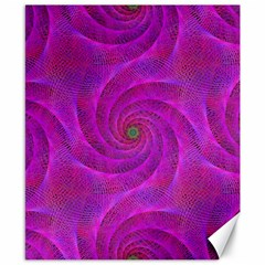 Pink Abstract Background Curl Canvas 8  X 10