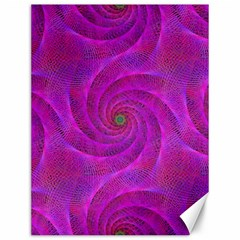 Pink Abstract Background Curl Canvas 12  X 16