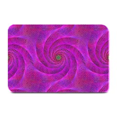 Pink Abstract Background Curl Plate Mats