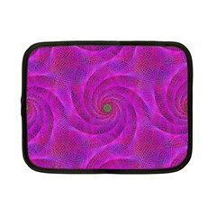 Pink Abstract Background Curl Netbook Case (small)