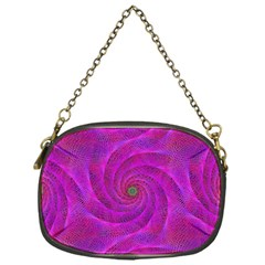Pink Abstract Background Curl Chain Purses (one Side)