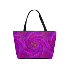 Pink Abstract Background Curl Shoulder Handbags