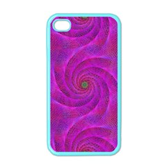 Pink Abstract Background Curl Apple Iphone 4 Case (color)