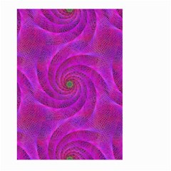 Pink Abstract Background Curl Large Garden Flag (two Sides)