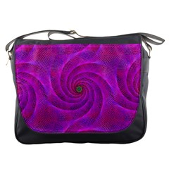 Pink Abstract Background Curl Messenger Bags