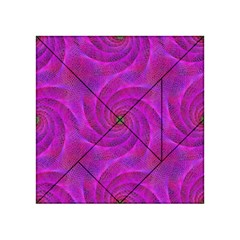 Pink Abstract Background Curl Acrylic Tangram Puzzle (4  X 4 )
