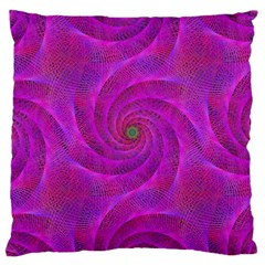 Pink Abstract Background Curl Large Cushion Case (two Sides)