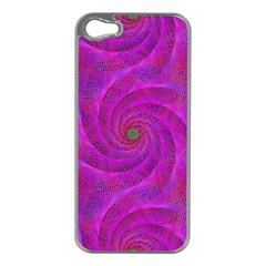 Pink Abstract Background Curl Apple Iphone 5 Case (silver)