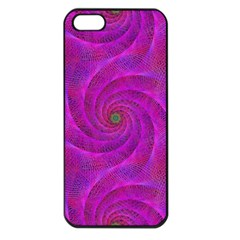 Pink Abstract Background Curl Apple Iphone 5 Seamless Case (black)