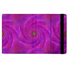 Pink Abstract Background Curl Apple Ipad 3/4 Flip Case