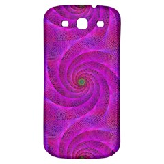 Pink Abstract Background Curl Samsung Galaxy S3 S Iii Classic Hardshell Back Case