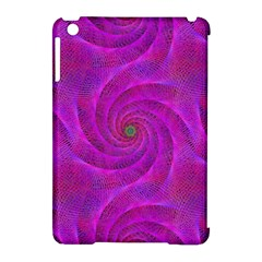 Pink Abstract Background Curl Apple Ipad Mini Hardshell Case (compatible With Smart Cover)