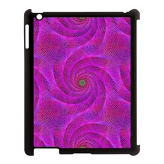 Pink Abstract Background Curl Apple Ipad 3/4 Case (black)
