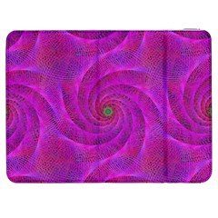 Pink Abstract Background Curl Samsung Galaxy Tab 7  P1000 Flip Case