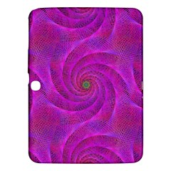 Pink Abstract Background Curl Samsung Galaxy Tab 3 (10 1 ) P5200 Hardshell Case