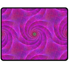 Pink Abstract Background Curl Double Sided Fleece Blanket (medium)