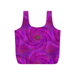 Pink Abstract Background Curl Full Print Recycle Bags (s)
