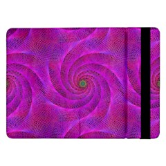Pink Abstract Background Curl Samsung Galaxy Tab Pro 12 2  Flip Case