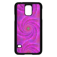 Pink Abstract Background Curl Samsung Galaxy S5 Case (black)