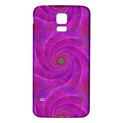 Pink Abstract Background Curl Samsung Galaxy S5 Back Case (white)