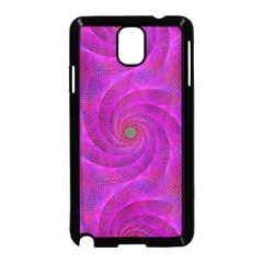Pink Abstract Background Curl Samsung Galaxy Note 3 Neo Hardshell Case (black)