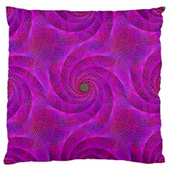 Pink Abstract Background Curl Large Flano Cushion Case (two Sides)
